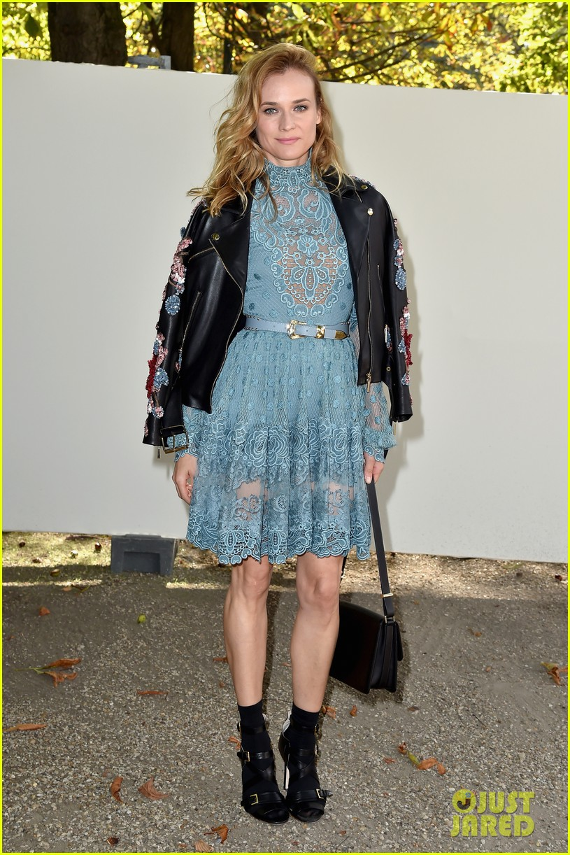 diane kruger sits front row for elie saabus pfw show photo diane kruger fashion olivia palermo pictures just jared