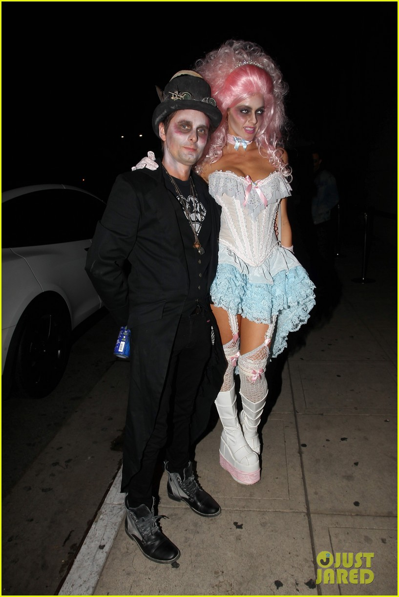 Matthew Bellamy & Gerard Butler Celebrate Halloween at 'treats ...