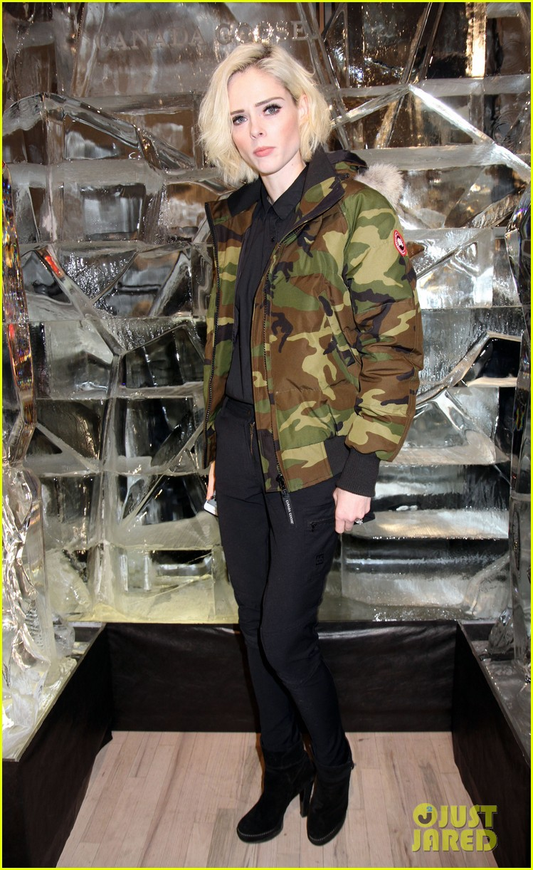 ansel elgort canadian goose launch nyc 083810851