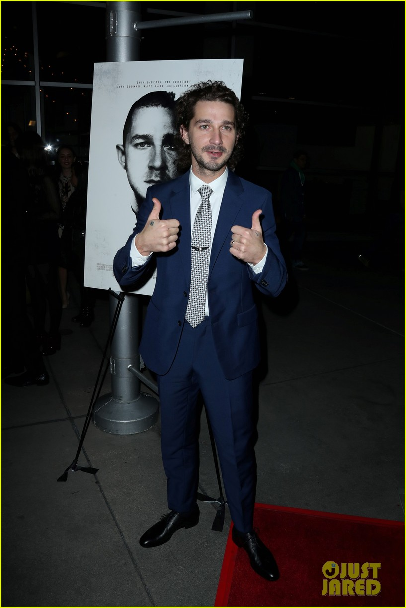 shia labeouf kate mara premiere man down 013818763