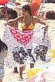 vincent cassel hits the beach with girlfriend tina tunakey 02