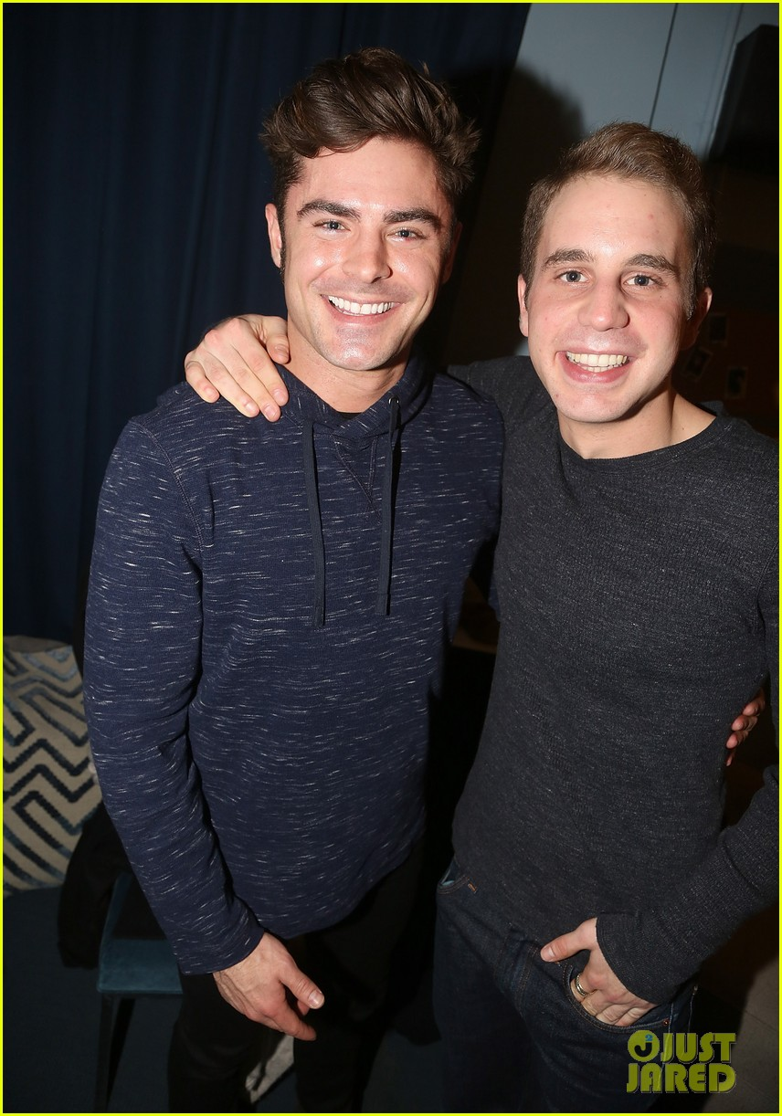zac efron visits ben platt at his hit brodway musical dear evan hansen 023832450