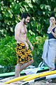 jake gyllenhaal goes shirtless in st barts takes surfing lesson 27