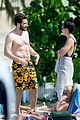 jake gyllenhaal goes shirtless in st barts takes surfing lesson 37