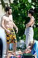 jake gyllenhaal goes shirtless in st barts takes surfing lesson 38