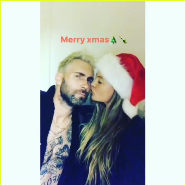 Adam Levine Goes Blond Again for First Christmas as a Dad!: Photo ...