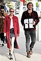 emma roberts and evan peters step out to mail their christmas gifts 11