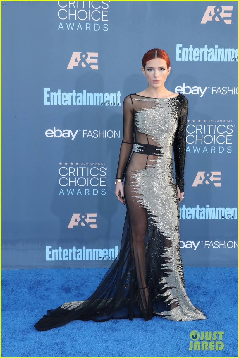Bella Thorne Wears No Underwear With Sheer Dress At