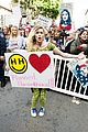 miley cyrus gina rodriguez and barbra streisand stand together at womens march 13