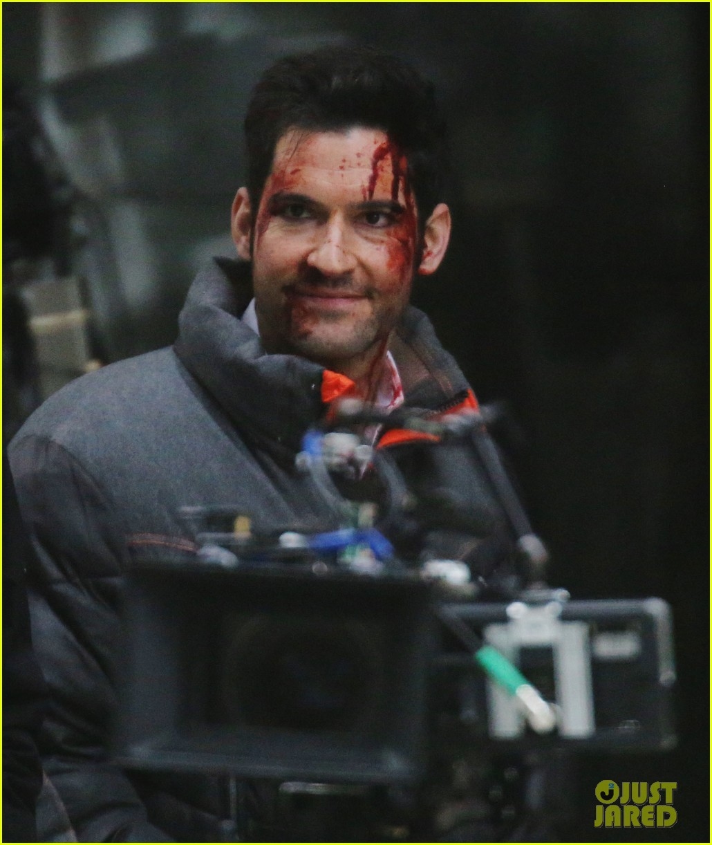 New Videos And Picture Of Tom Ellis: Tom Ellis Is Covered In Blood For 'Lucifer' Fight Scene