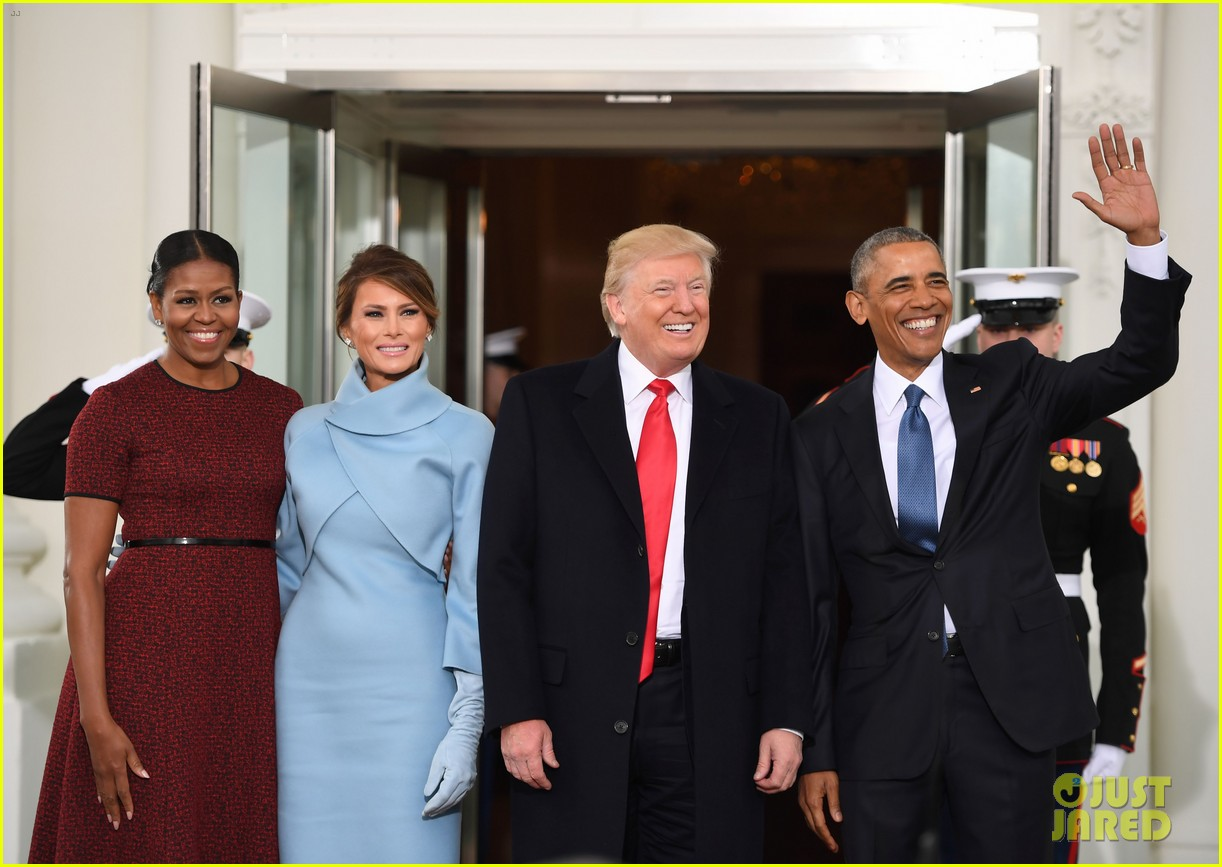 obamas meet trumps on inauguration day 013845091