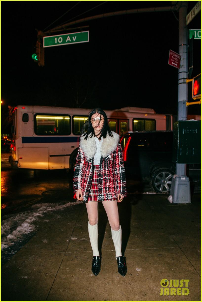 haley bennett debuts new pixie cut rag bone fashion show 103856713