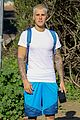 justin bieber heads out on a pre birthday hike 04
