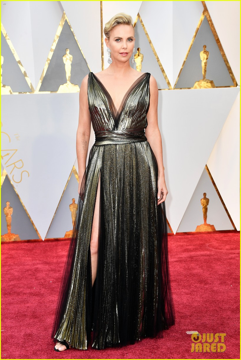 Charlize Theron Hits the Red Carpet Before Presenting at ...