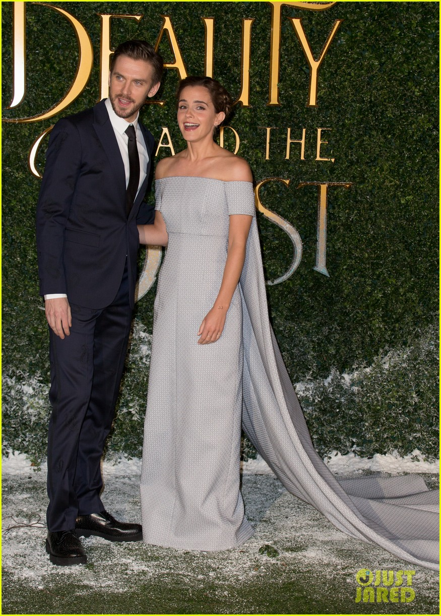 Emma Watson Dan Stevens Team Up For Beauty The Beast London Premiere