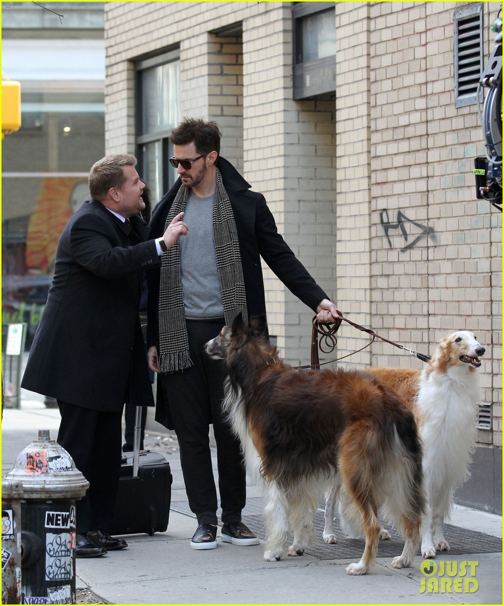 james corden films oceans eight cameo nyc 043851861
