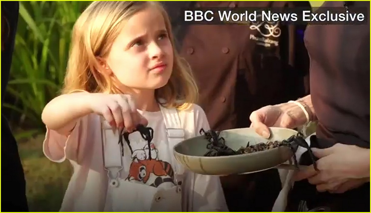 angelina jolie eats spiders insects with her kids 013862886