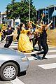 james corden dan stevens luke evans josh gad perform crosswalk version of beauty the beast  01