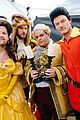 james corden dan stevens luke evans josh gad perform crosswalk version of beauty the beast  02