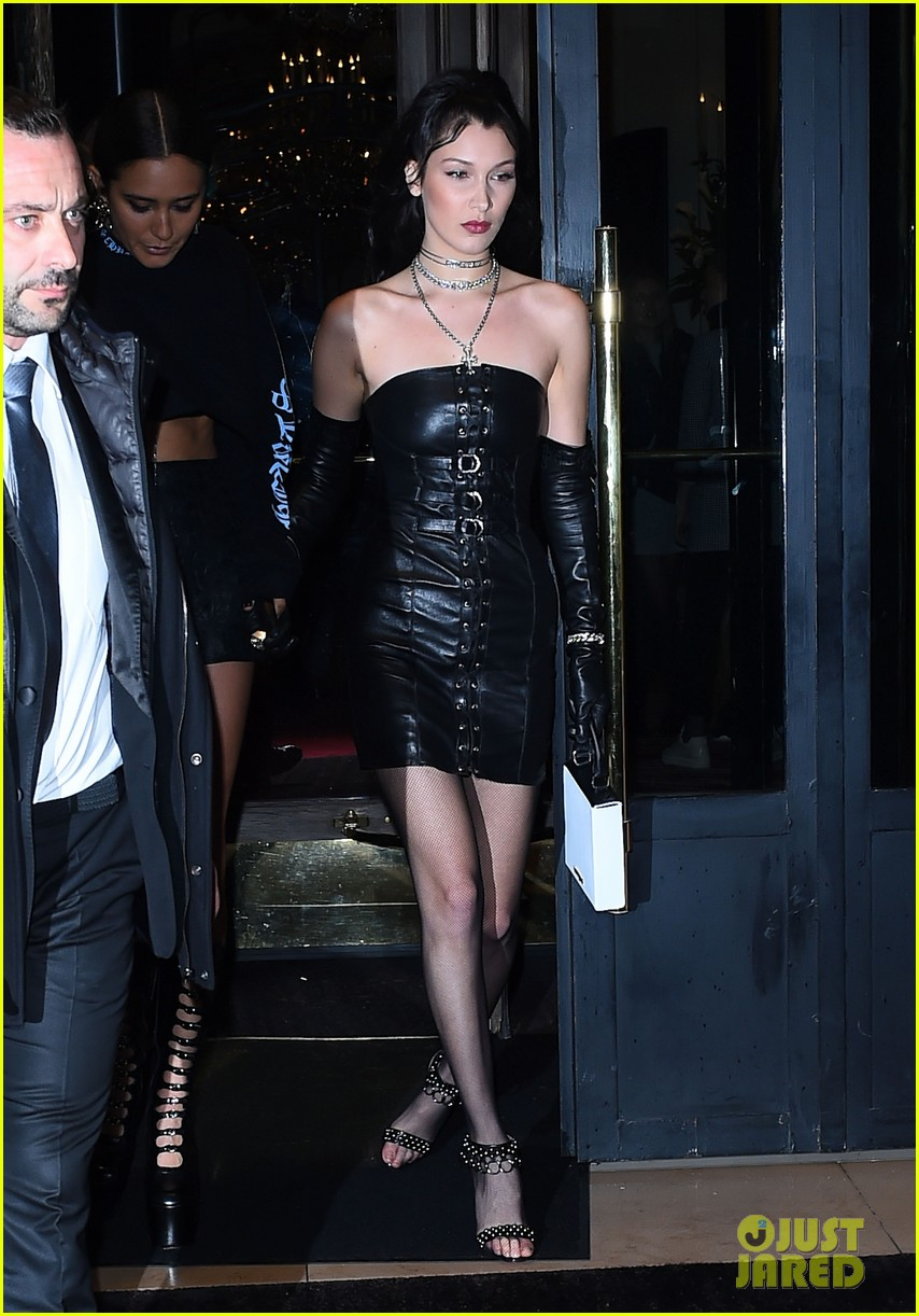 bella hadid stuns in a silver gown at dior party 133869980