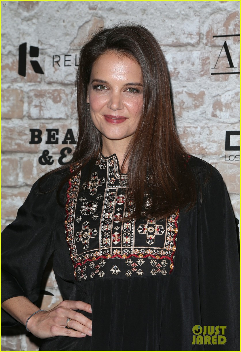 katie holmes hailey baldwin lead celeb studded tao opening block party 033875295