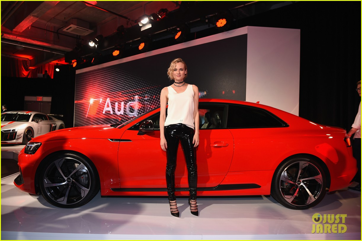Diane Kruger Helps Launch New Audi Car with Rami Malek & Finn Wittrock ...