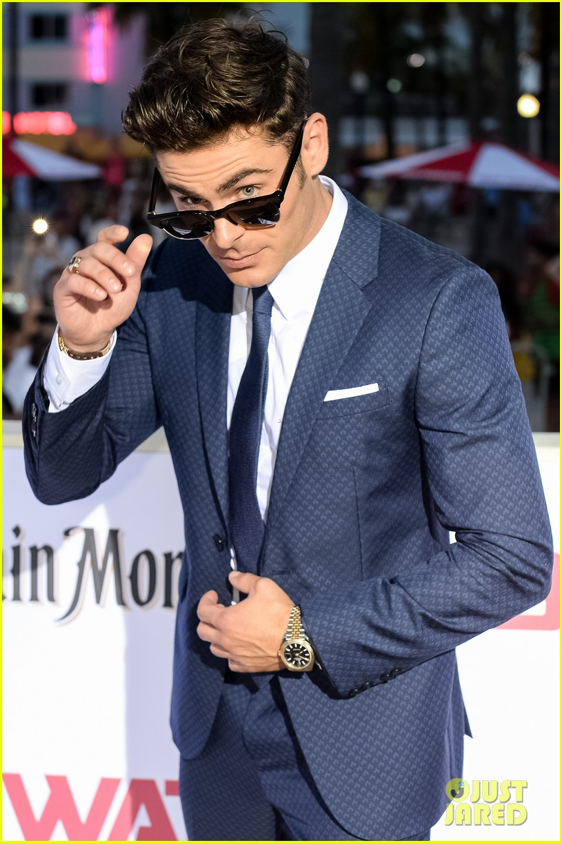 zac efron suits up for the baywatch premiere in miami033898510