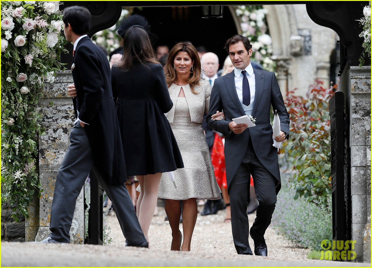 roger federer suits up for pippa middletons wedding with wife mirka photo 3902080 mirka federer pippa middleton roger federer pictures just jared