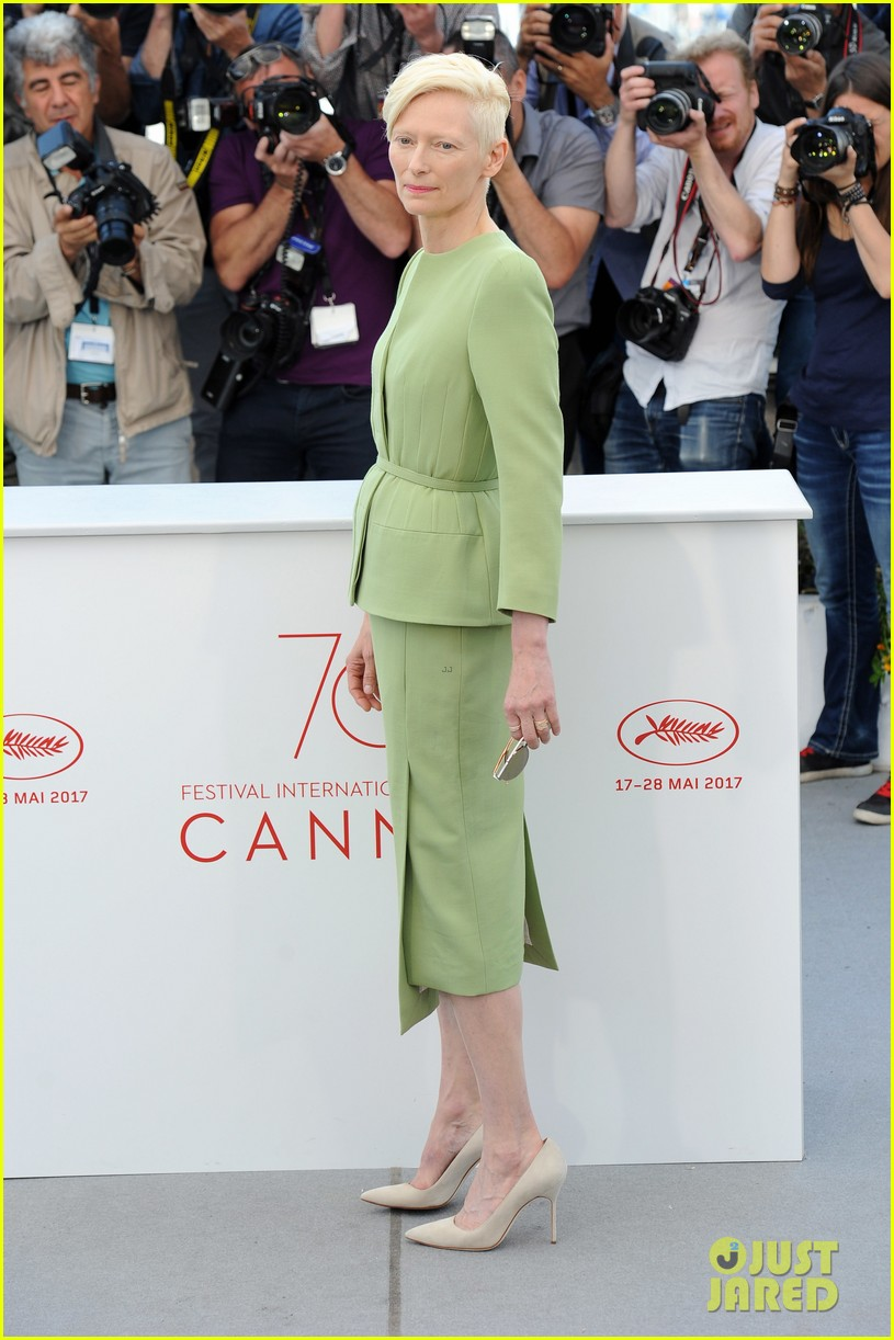 jake gyllenhaal tilda swinton lily collins debut okja at cannes film fest 303901384