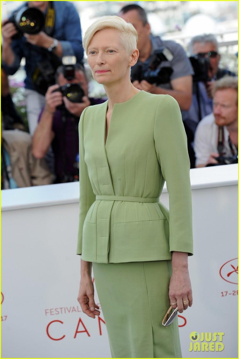jake gyllenhaal tilda swinton lily collins debut okja at cannes film fest 313901385