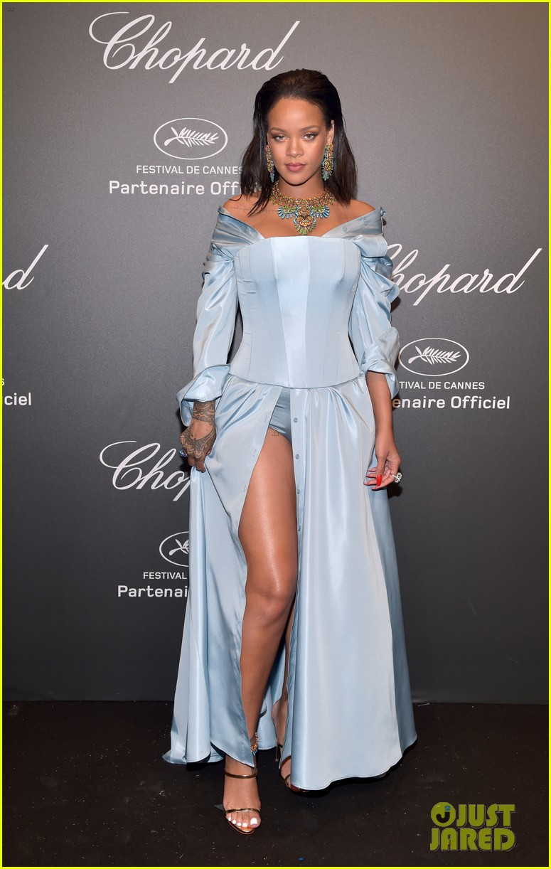 rihanna celebrates her chopard collection with bella hadid 053901825