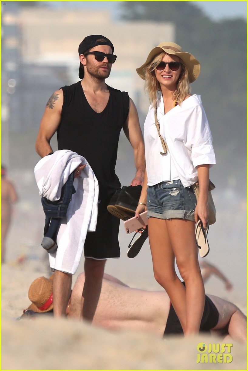 paul wesley candice king hit the beach in rio 053895360