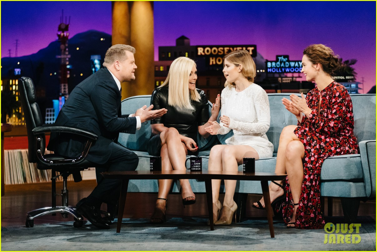 james corden fires fruit at lily james iggy azalea kate mara with flinch 093914323