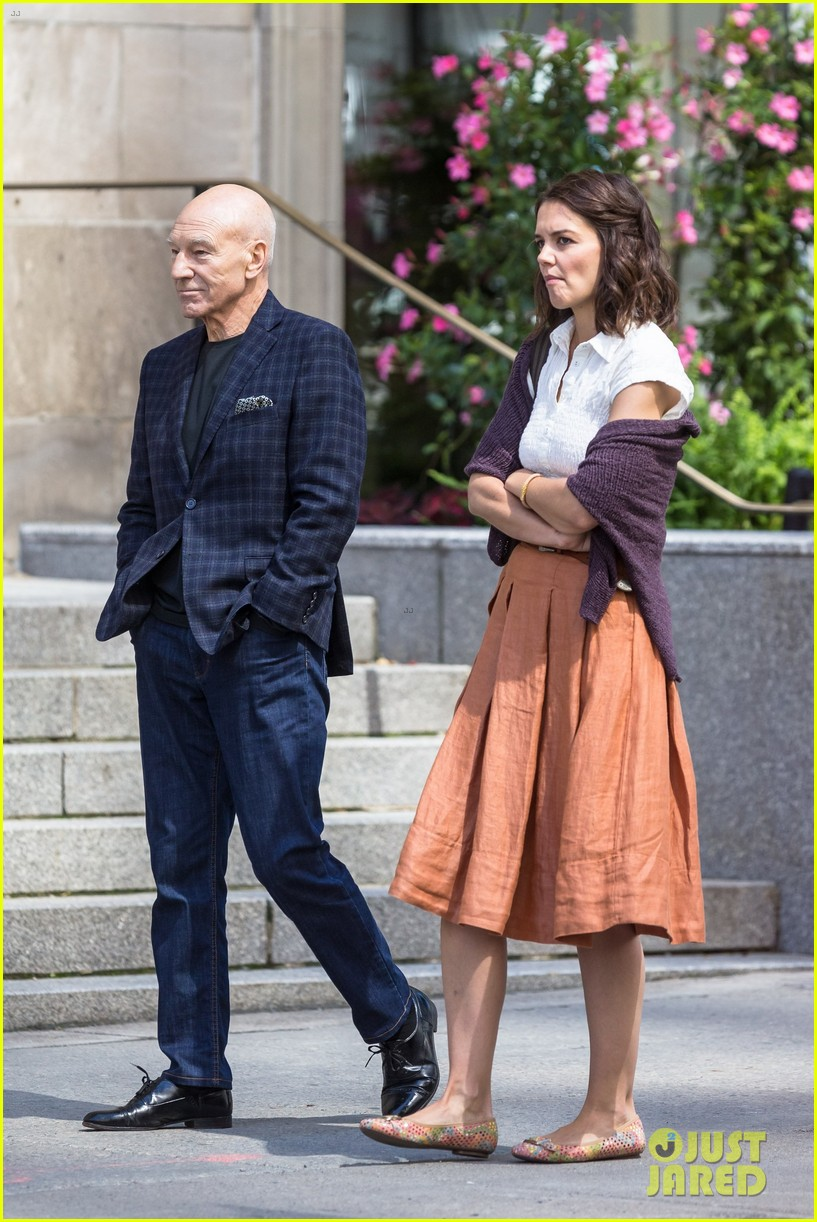 katie holmes and patrick stewart start filming the gift 033918475