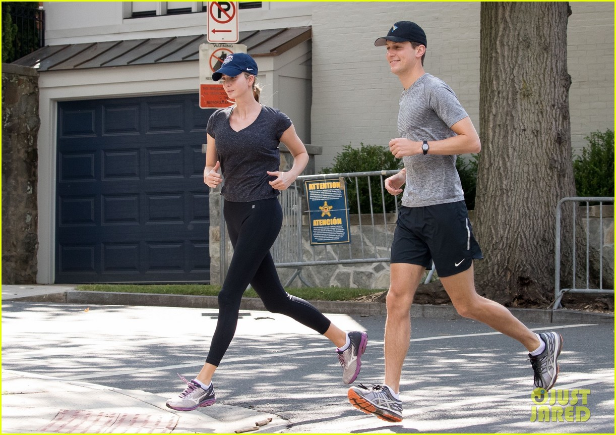 Ivanka Trump & Jared Kushner Go Jogging in Washington D.C.