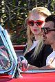 joe jonas sophie turner red convertible 05