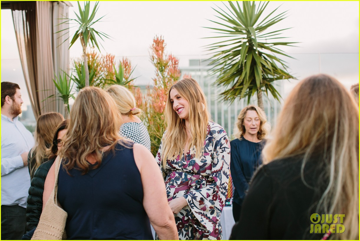 pregnant whitney port cradles baby bump at her baby shower 183915112