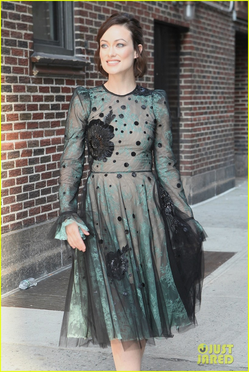 Olivia Wilde Dazzles In See Through Dress For Colbert