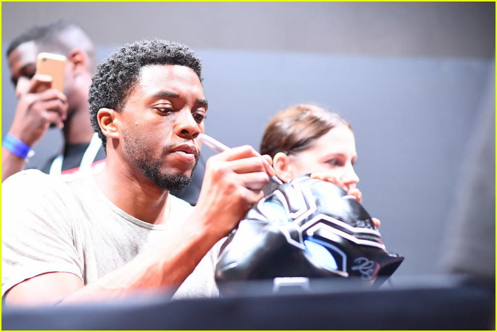 black panthers chadwick boseman meets fans at d23 expo 273928426