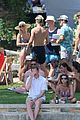 derek hough goes shirtless while paddling at julianne rehearsal party 11