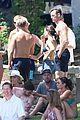 derek hough goes shirtless while paddling at julianne rehearsal party 17