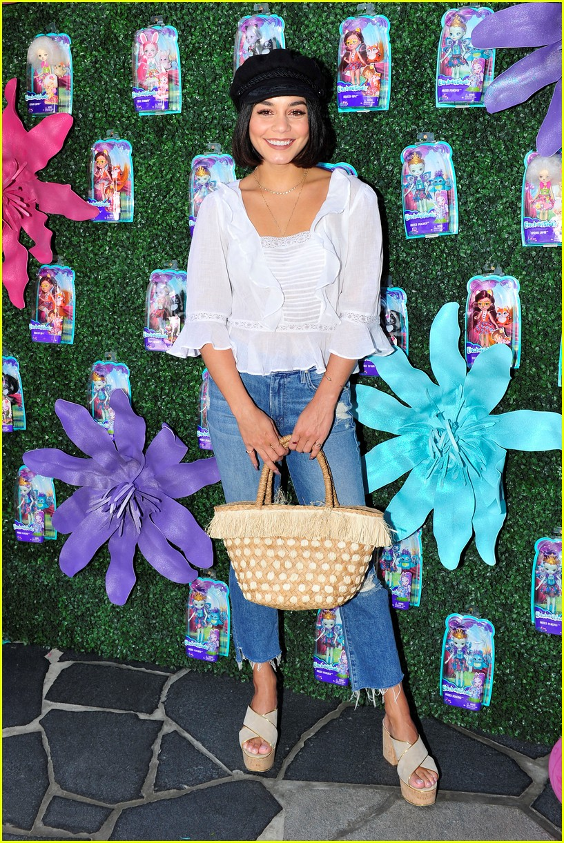 vanessa hudgens snaps selfies with fans at toy launch 013930723