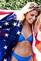 ireland baldwin models swimsuits for july 4th beach shoot 15