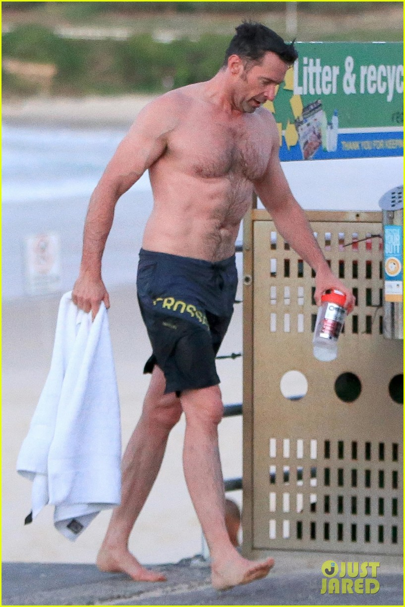 hugh jackman bares his hot body during an outdoor shower 013934386