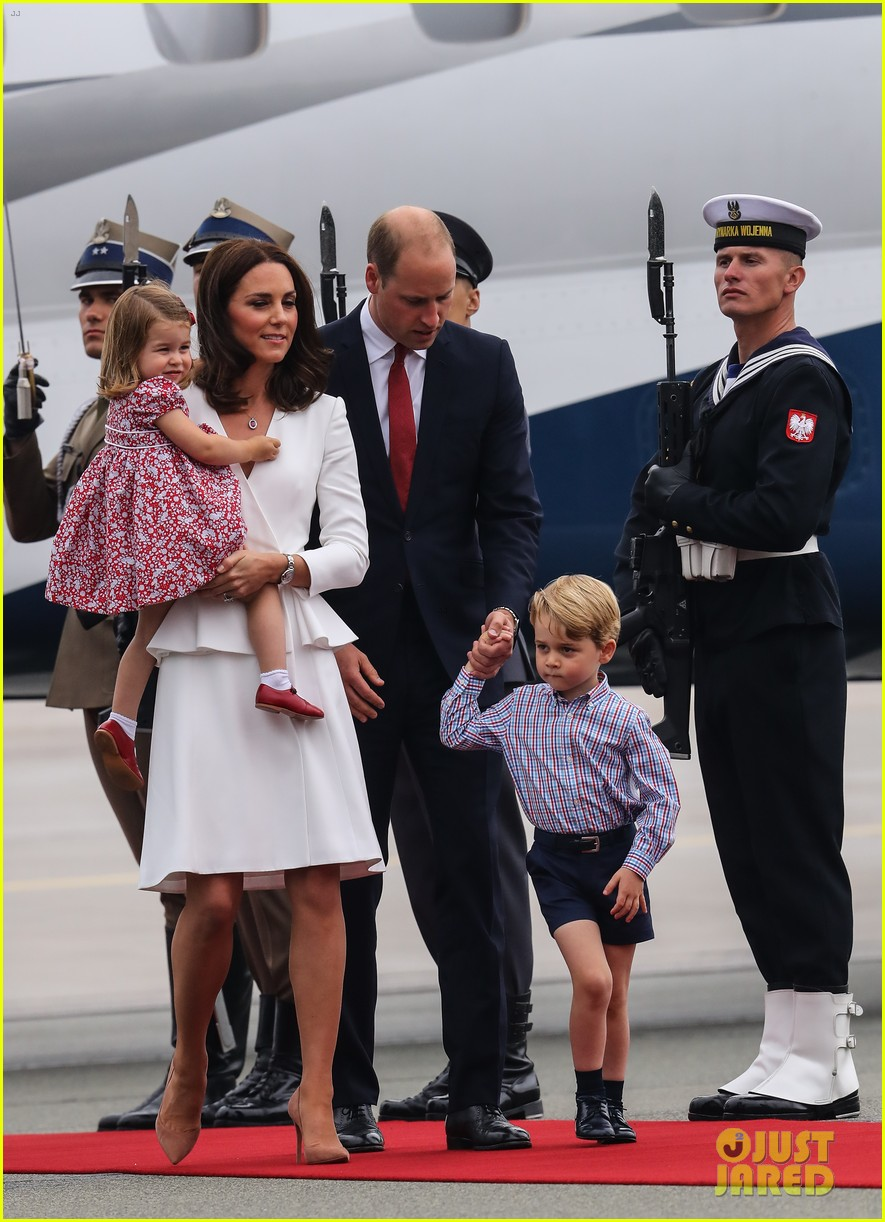 kate middleton prince william arrive in poland with george charlotte 393929278
