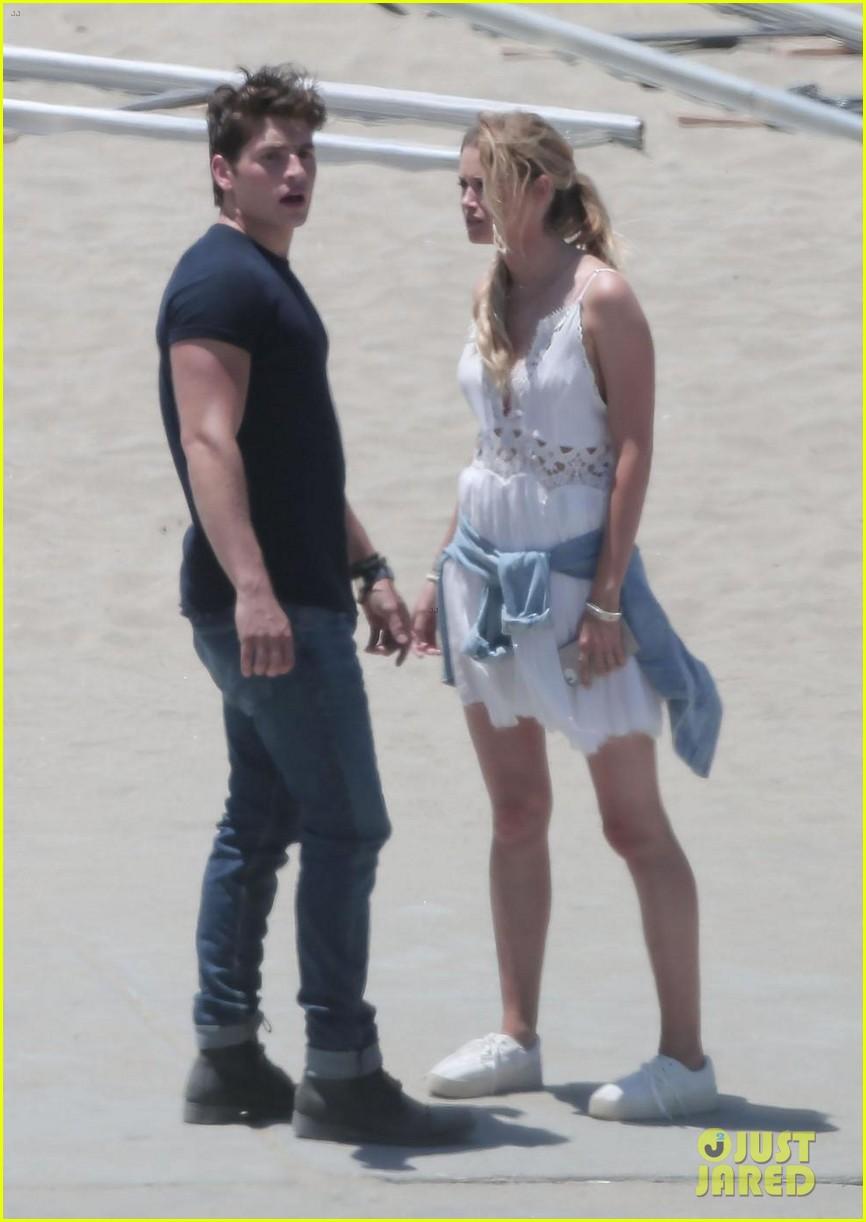 gregg sulkin starts filming marvels runaways at beach in la 083931564