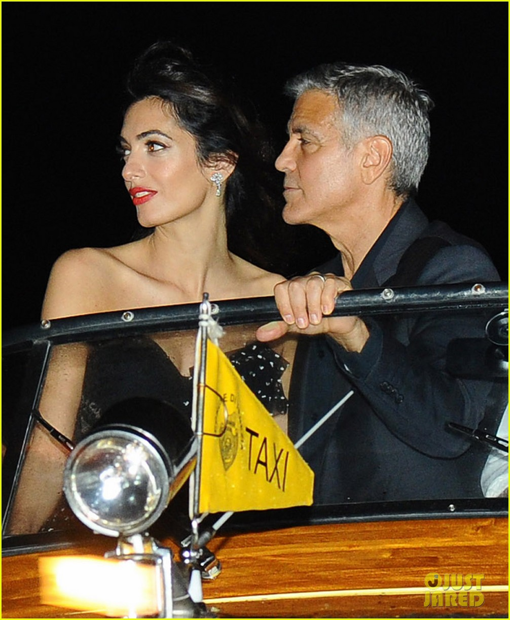 george clooney takes a boat for venice date night with amal 023948777