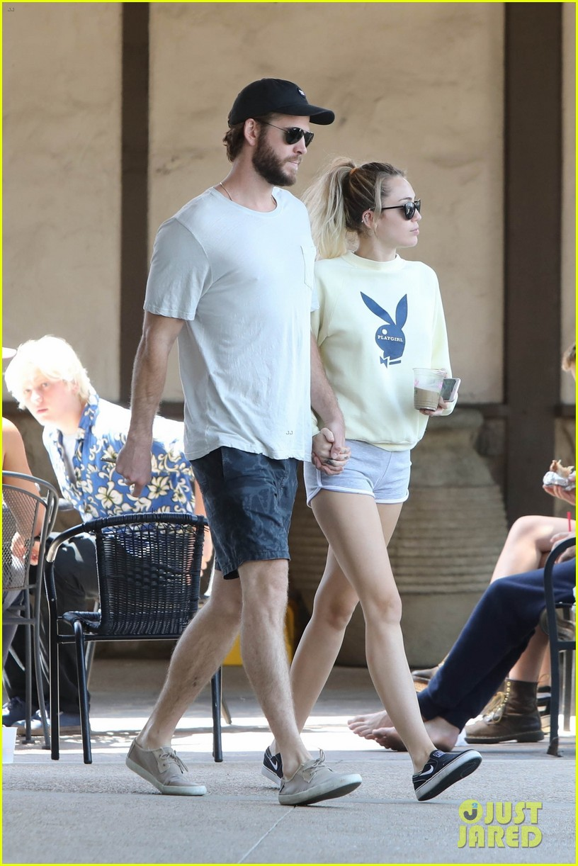 miley cyrus liam hemsworth hold hands for saturday morning date 053949606