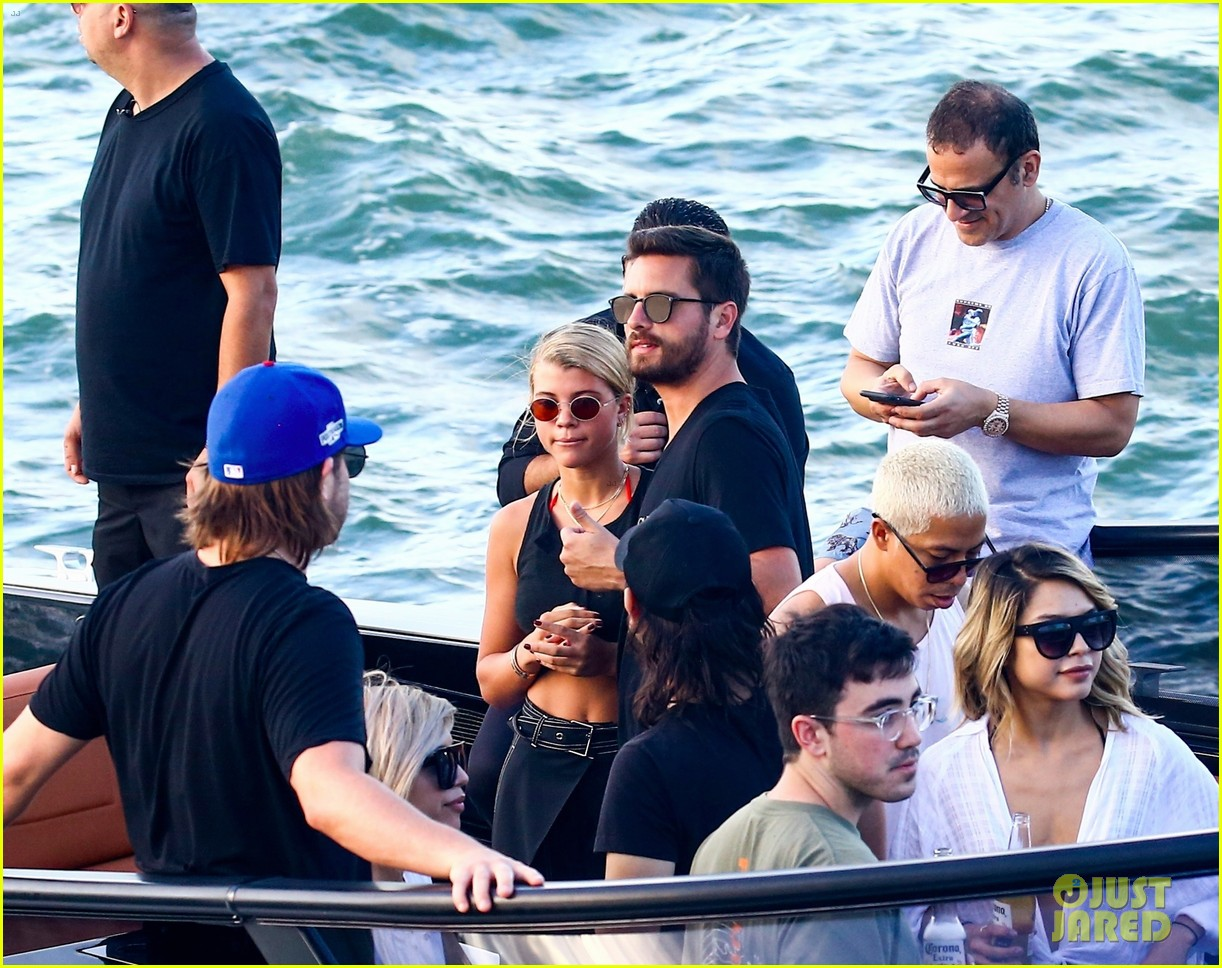 scott disick and sofia richie flaunt pda on a boat with friends2 053962985