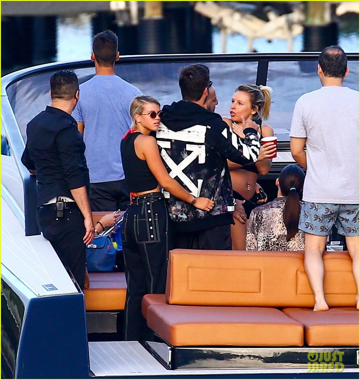 scott disick and sofia richie flaunt pda on a boat with friends2 243963004
